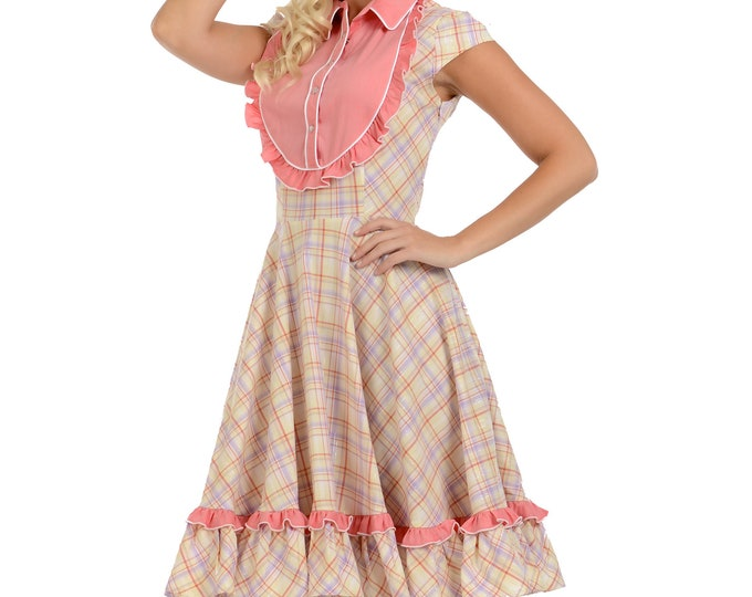 Dosi Dress in Yellow Plaid XS ONLY!!