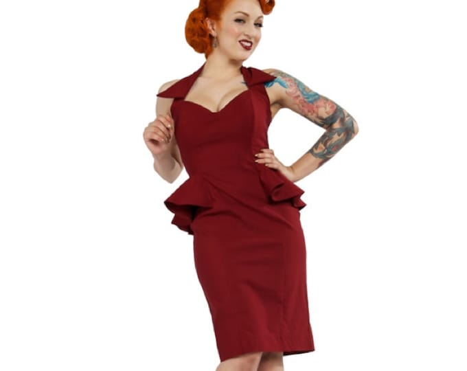 Lucille Dress in Burgundy