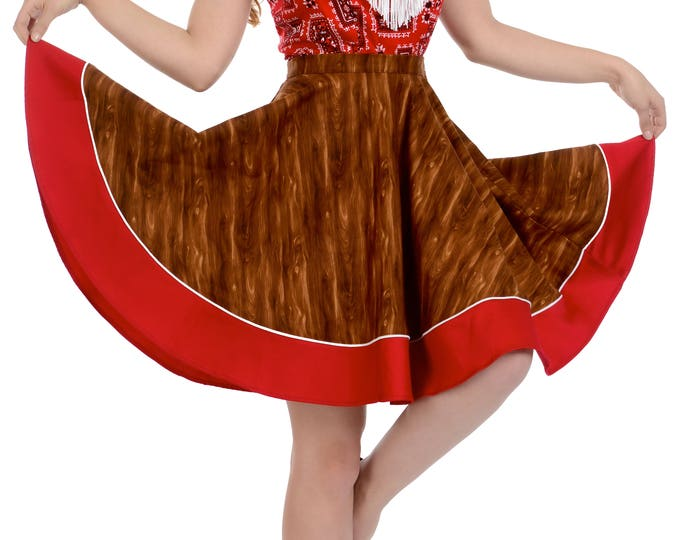 Sadie Skirt in Wood Print