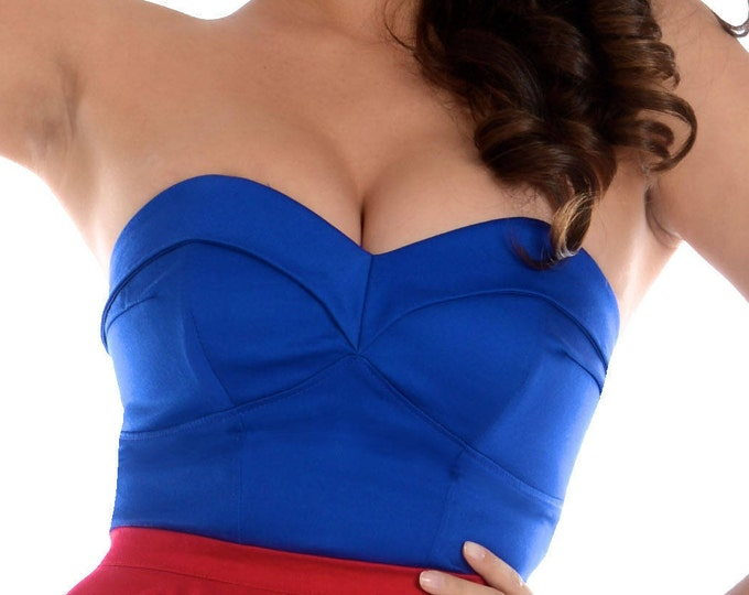 Scarlett Bustier in Royal Blue