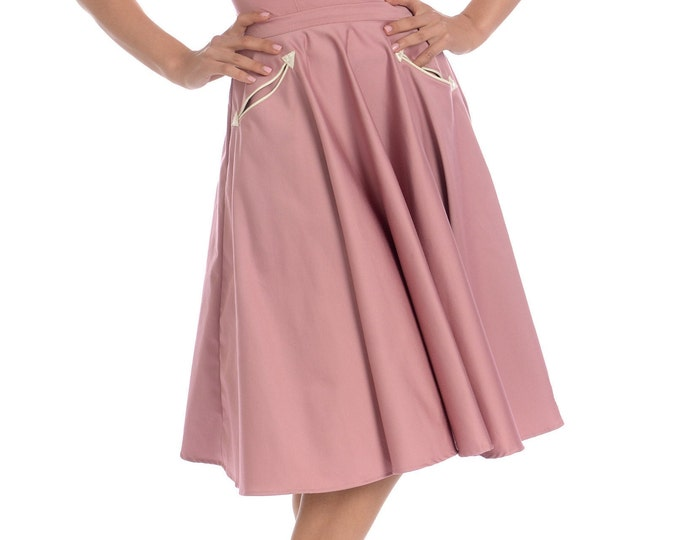 Petunia Western Circle Skirt in Mauve