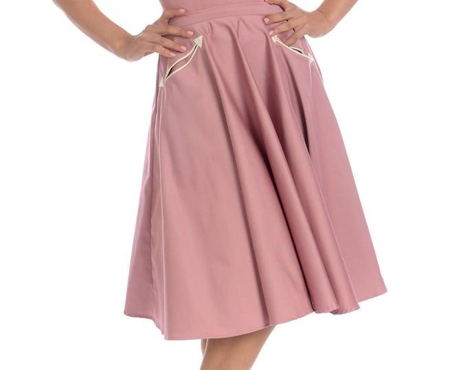Petunia Western Circle Skirt in Mauve