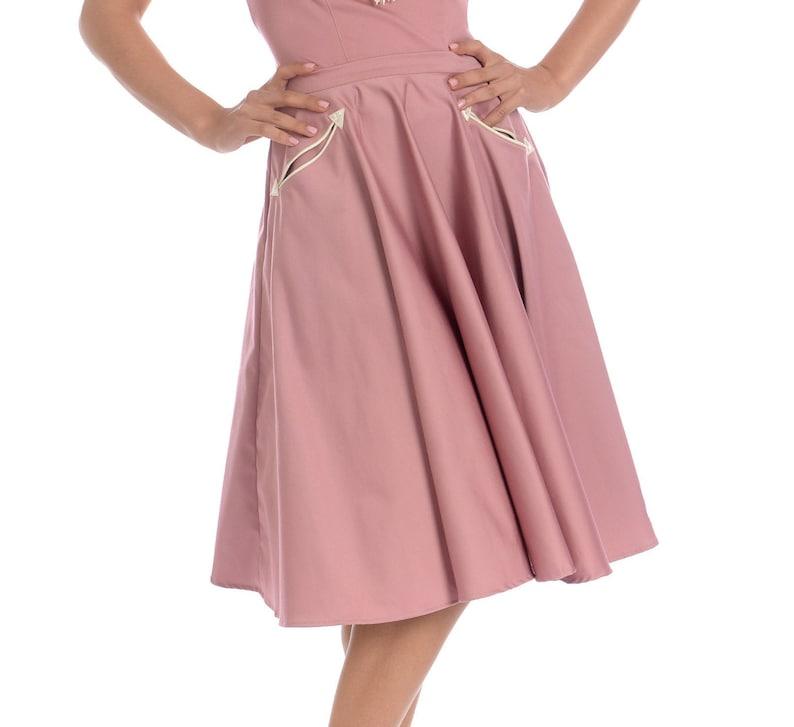 1950s Swing Skirt, Poodle Skirt, Pencil Skirts     Petunia Western Circle Skirt in Mauve $88.00 AT vintagedancer.com