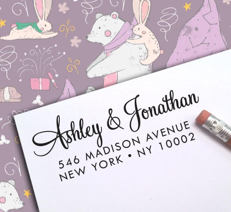Self Ink Address Stamp Stamper  124 Personalized Address Stamp Wedding Address Stamp CUSTOM ADDRESS STAMP Wedding Stamp Address Stamp
