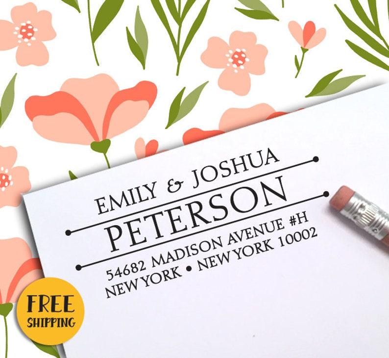 Self Inking Stamp Wedding Stamp CUSTOM SELF INKING Return Address Stamp Housewarming Gift 86 Custom Address Stamp Return Address Stamp