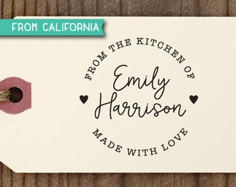 From the Kitchen of Stamp, Pre-Inked Stamp or Traditional Rubber Stamp, Personalized Baking Gift, Kitchen Stamp, Gift for Mom, KitchenStamp4