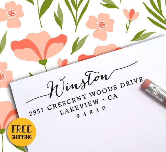 custom address stamp personalized address stamp self ink etsy