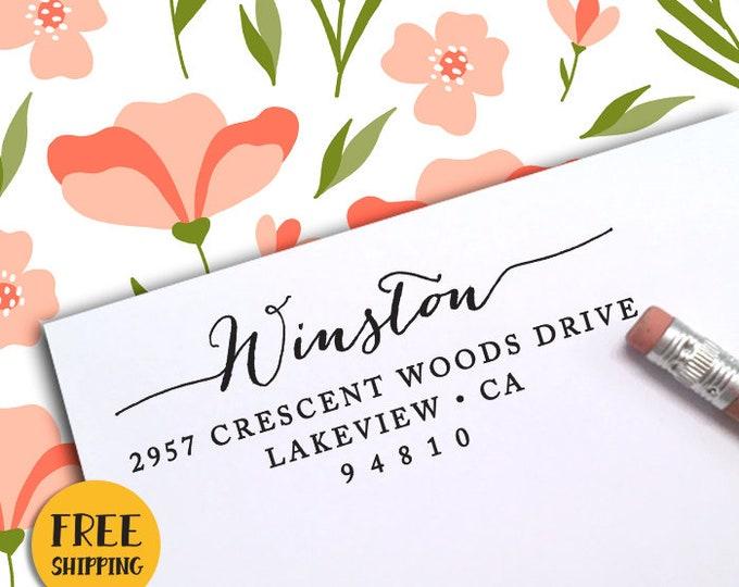 CUSTOM SELF INKING Return Address Stamp, Custom Address Stamp, Return Address Stamp, Self Inking Stamp, Wedding Stamp, Housewarming Gift 79