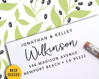 Custom Address Stamp, FREE SHIPPING with PROOF, Self Ink Return Address Stamp, Personalized Address Stamp, Self Ink Custom Address Stamp 394