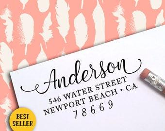 Self Inking Return Address Stamp, Self Inking Address Stamp, Address Stamp, Custom Address Stamp, Save The Date Stamp, Wedding Stamp 301