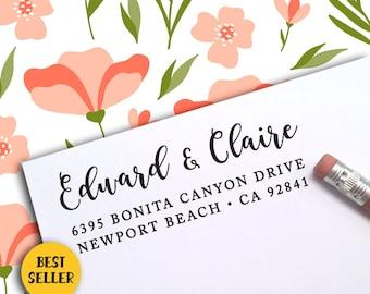 Custom Address Stamp, Save The Date Address Stamp, Self-Inking Return Address Stamp, Housewarming Gift Stamp, RSVP Custom Stamp 385