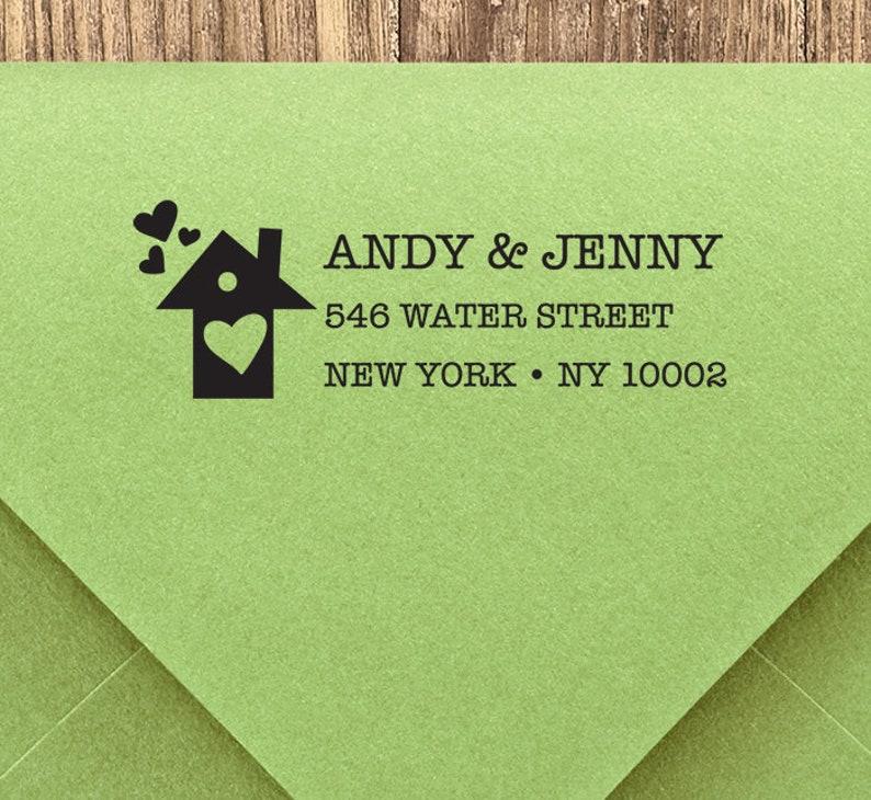 Save The Date Address Stamp Housewarming stamp RSVP Stamp Custom Address stamp New Home Gift Self-Inking Return Address Stamps House 3