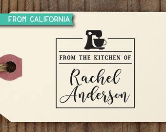 From the Kitchen of Stamp, Traditional Rubber Stamp OR Pre-Inked Stamp, Personalized Baking Gift, Kitchen Stamp, Gift for Mom, KitchenStamp6