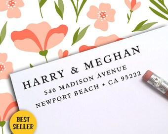 Custom Address Stamp, Self Ink Return Address Stamp, Personalized Address Stamp, Self Ink Custom Address Stamp, RSVP, Save The Date  389