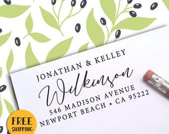 Custom Address Stamp, Self Inking Address Stamp, Personalized Address Stamp, Wedding Address Stamp, Calligraphy, Housewarming, RSVP 399