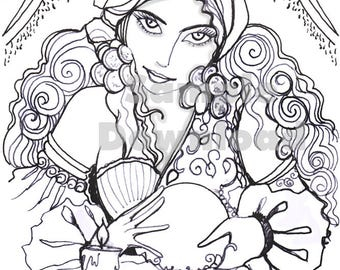 Pretty fortune teller Coloring Page
