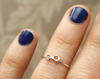 Infinity Knuckle Ring - Sterling Silver Above the Knuckle Ring - Midi Eternity Symbol