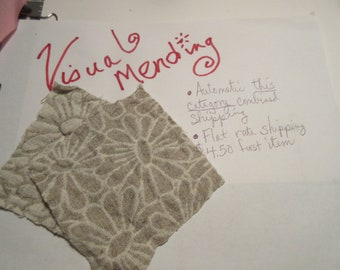 Visible Mending Quick Start Patch Sustainability, Earth Day, Climate Change, Thrifty Fashion Embellishment
