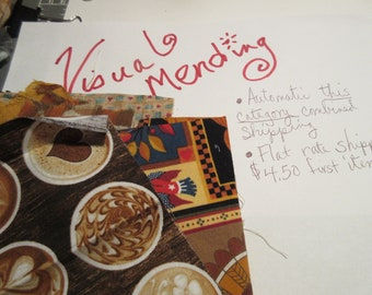 Beyond the Basic Visual Mending kit in Autumn colors linens, accent fabrics and more!