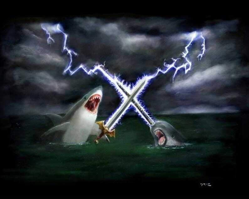 Shark vs Narwhal image 0