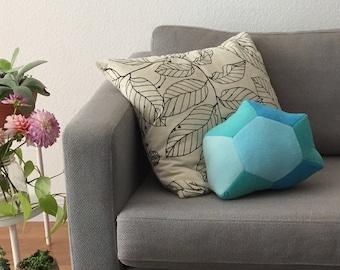 Blue Crystal Pillow - Giant Zircon Gemstone Plush - Fairytale Treasure Plush