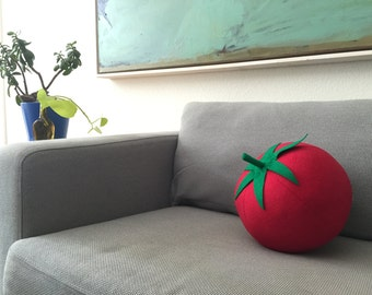 Giant Tomato Pillow - Summer Time Garden Decor for Foodies
