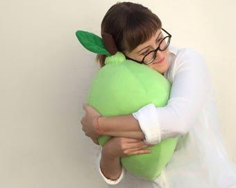 Lime Pillow - Giant Fruit Citrus Cushion - Staging Photo Prop