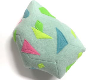 SALE Rainbow Crystal Plush - Opal Birthstone Pillow - Magic Crystal