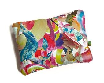 Pink Sugar Velvet Pillow - Watercolor Frills