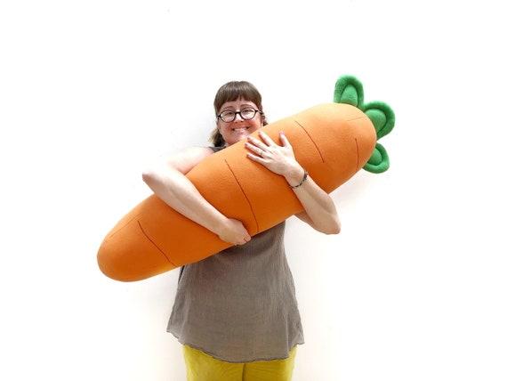 Chonky Carrot Body Pillow | Etsy