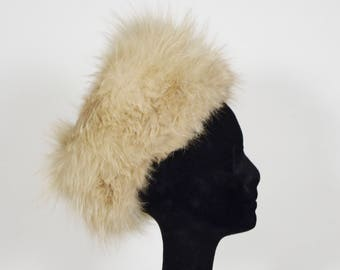 Vittorio 1970s Vintage Women's Red Fox Fur Leather Top Winter Hat