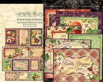 Vintage inspired  Roses stationery cards set ATC altered art 8 with organza bag