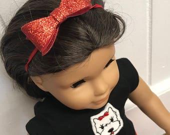 Girl Doll Puppy Paris Skirt, Doll Puppy Shirt, 18 inch doll clothes, Girl Twin doll, 15 inch doll clothes Eiffel Tower Scottie Dog Paris Set