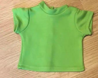 18 inch 15 inch doll shirt, American Doll, Girl doll, tee shirt, doll t-shirt, matching shirt, Lime Green doll shirt