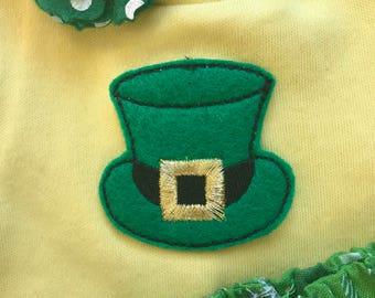 American Doll Leprechaun top, ruffle glitter tulle skirt, hair clip, 18 inch doll clothes, 15 inch doll clothes St. Patrick's Day Luck Irish