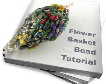 Tutorial Polymer Clay PDF  Flower Basket Beads