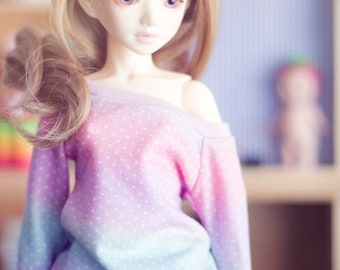 Gradient Dots sweater for MSD size bjd dolls Unoa Minifee