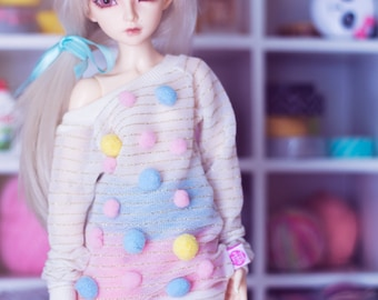 Caramel & Pompoms for MSD size bjd dolls Unoa Minifee