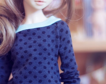 MSD Dark Dots sweater for bjd dolls Unoa Minifee