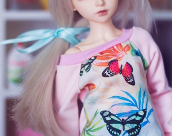 Butterflies sweater for MSD size bjd dolls Unoa Minifee