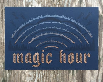 Magic Hour Letterpress Poster
