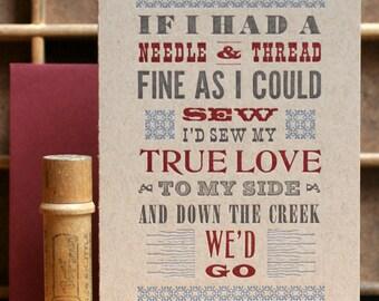 Jubilee mini poster letterpress card