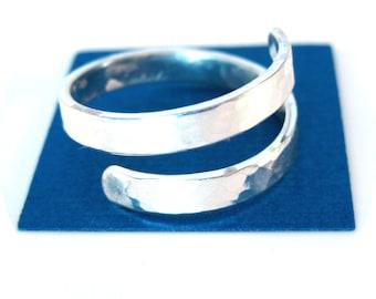 Hammered Sterling Silver Adjustable Ring