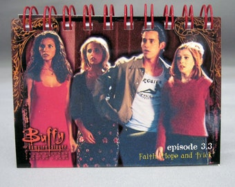 Recycled Buffy the Vamire Slayers Mini Notebook - Ready To Ship