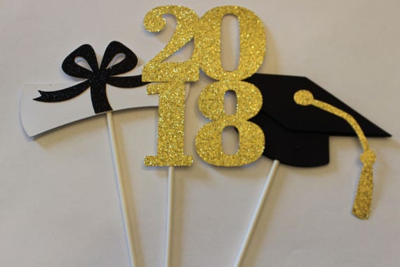 Graduation Party Table Centerpieces Cake Toppers