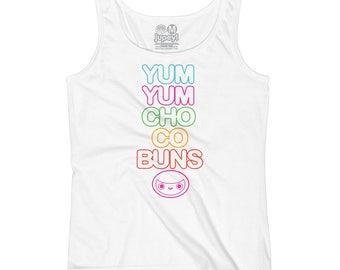 Women's Yum Yum Chocobuns Rainbow Flavor Tank