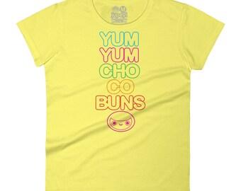 Women's Yum Yum Chocobuns Rainbow Flavor Tee