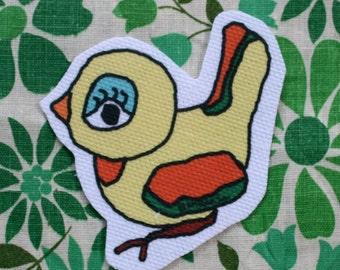 yellow birdie patch