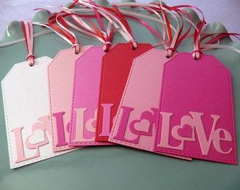 Love Tags, Valentine Tags, Valentine's Tags, Teacher Valentines, Wedding Tags, Wedding Wishing Tree, Heart Tags, Love Valentine