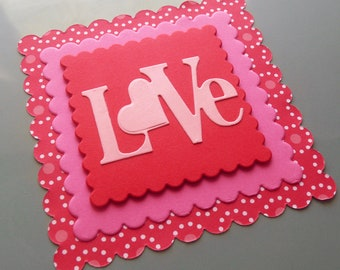 Valentine Cards, Square Valentine, Love Cards, Scrapbook Embellishments, Love Notes, Heart Cards, Handmade Valentines, Valentine's Day